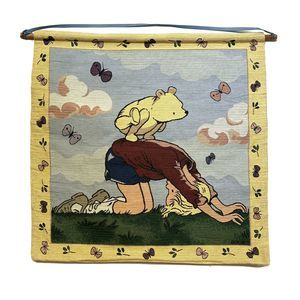Classic Winnie the Pooh Tapestry Hanging